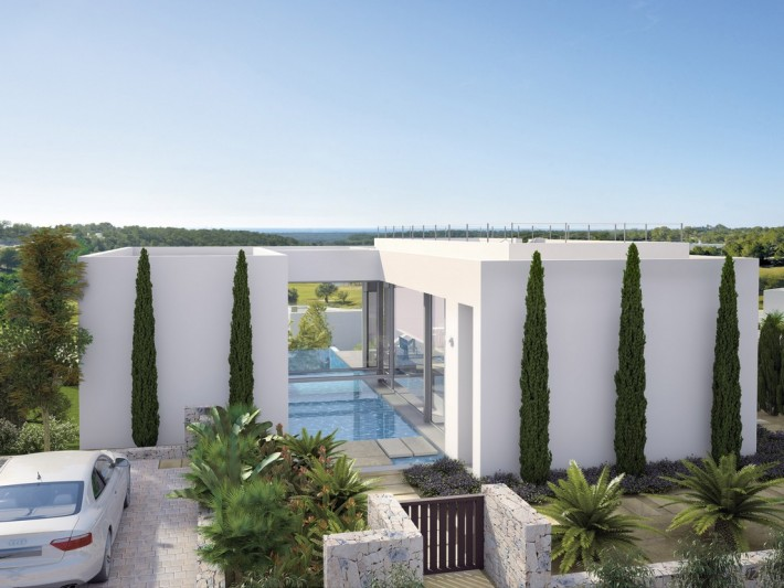 CBC1137, Campoamor, La Colinas, Costa  Blanca.  Luxury modern villas all south facing with golf and sea views