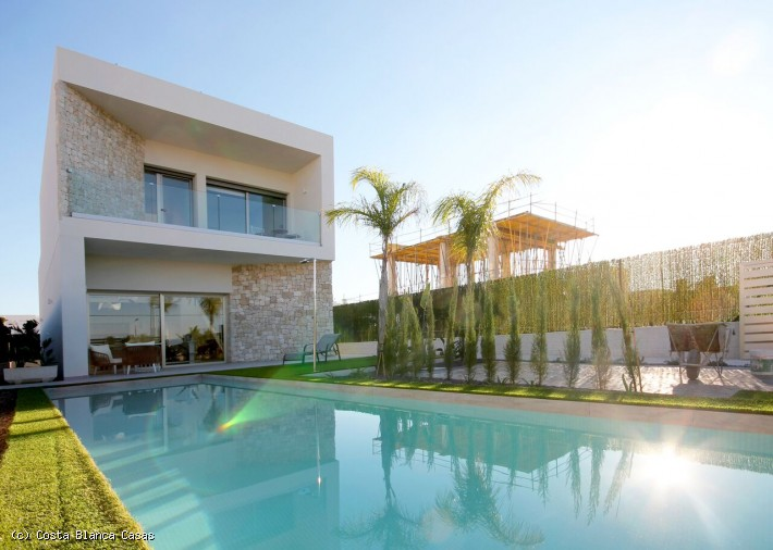 CBC1211, Spanish Property For Sale  Brand New Detached Villas with Private Swimming Pools