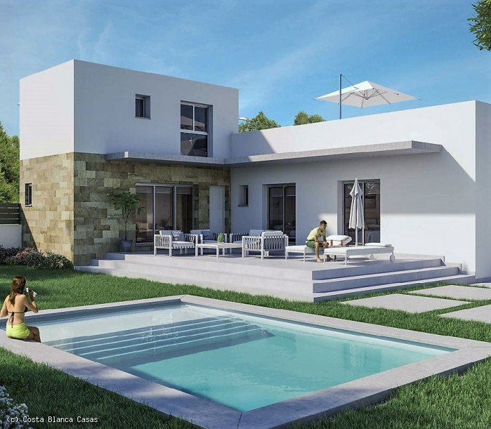 CBC1440, Brand new 3 bed 3 bath luxury detached villas with private swimming pools located in Daya Vieja